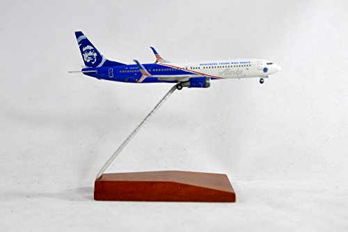 Airlines Diecast Model - GeminiJets Alaska Airlines Boeing 737-900ER Diecast Airplane Model Honoring Those Who Serve N265AK With Stand 1:400 Scale Part# GJASA1624