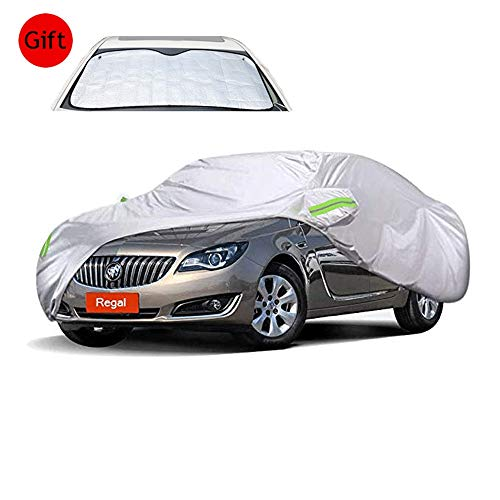 AZZauto Car Cover - B-uick Regal Special Car Cover SUV Dustproof Sunscreen Rainproof Scratchproof Warm Cover Car Cover Thick Oxford Cloth (Gift Front Windshield Sun Visor) (Handbag Regale La Beaded)