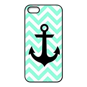 Customized Chevron With Anchor Cover Case for iPhone 5/5S TPU Back Cover Case-5S009CP Kimberly Kurzendoerfer
