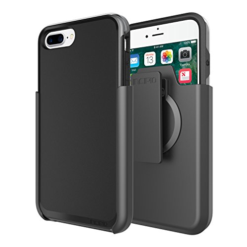 iPhone 7 Plus Case, Incipio Performance Series Ultra Protection [Shock Absorbing] Cover w/Holster fits iPhone 7 Plus - Black/Gray by Incipio