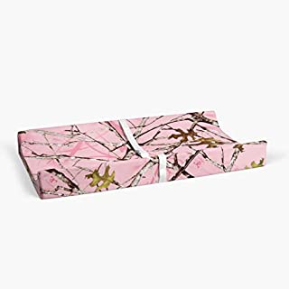 Glenna Jean Camo Baby Changing Pad Cover, Pink, Crib