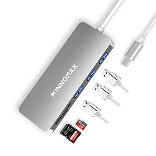 INNOMAX MacBook Pro USB C Hub/Adapter with SD Card Reader,3