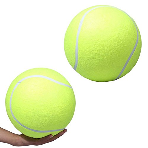 Wei Ni Jia Interactive Air Pet Tennis Ball Toy for Dog, Water Swimming Pool Play Dog Tennis Balls for Exercise and Training Large, 9.5 Inch by Wei Ni Jia