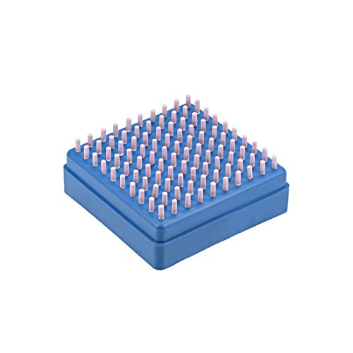 uxcell 研磨ストーンポイント シリンダーコランダム研削ヘッド 3 mm シャンク3 mm 100個入り