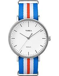 Timex TW2P91100GP Weekender Fairfield White Dial Nylon NATO Strap Watch