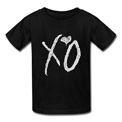 Custom XO The Weeknd Men's Tee Shirt Fashion Cotton Short Sleeve T-shirt