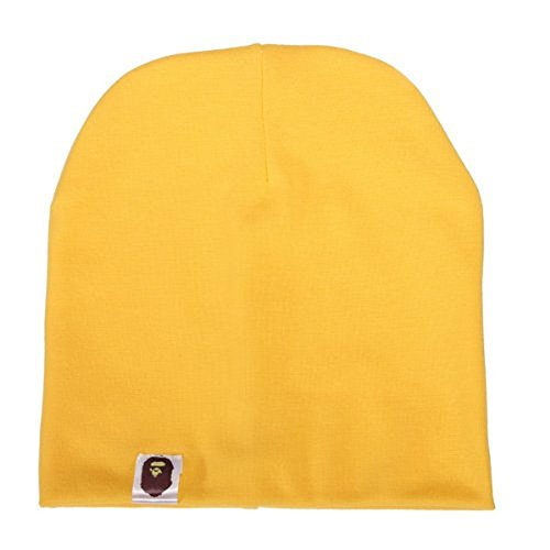 Unisex Cotton Beanie Hat for Cute Baby Boy/Girl Soft Toddler Infant Cap 21 Color (Toddler Yellow Hat)