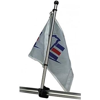 Amazon Com Rail Mount Stainless Steel Flag Pole Sports