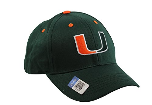 National Cap Men's Champ Fashion Miami Hurricanes Embroidered Cap - Miami Canes Hurricanes