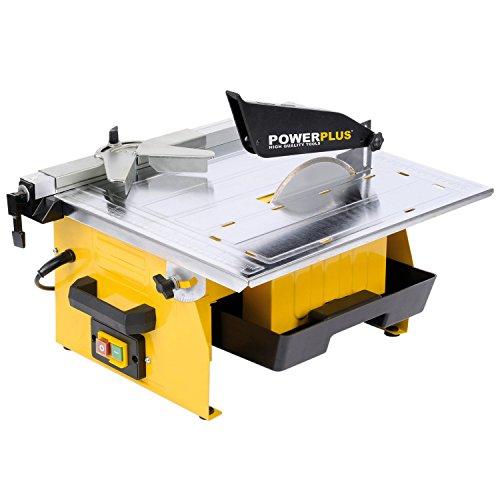Fliesenschneidemaschine Fliesenschneider Nassschneider 750W mit Diamant-Trennscheibe und Wasserbehälter - Art. POWX230