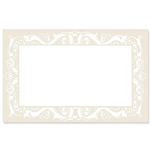 Pearl Lace Border Enclosure Cards / Gift Tags - 3 1/2 x 2 1/4 (50)