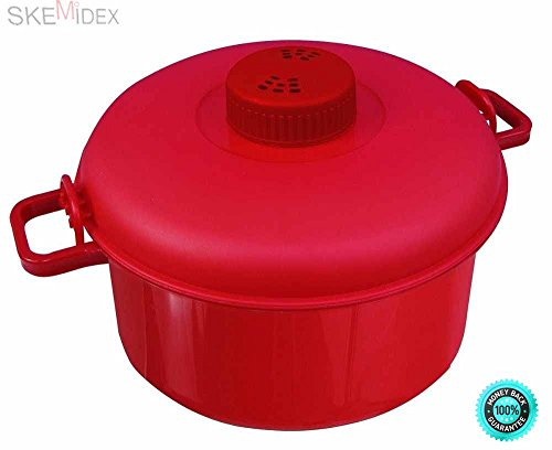SKEMiDEX--- Microwave Pressure Cooker Micromaster Convection Rice Steamer As Seen On TV Red Cook tender, delicious meals in less time! Now you can enjoy the benefits of a pressure cooker