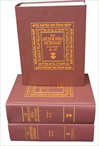 The Anchor Bible Dictionary 6 Volume Prepack Contains One Copy Of