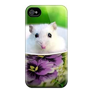 Tpu Mialisabblake Shockproof Scratcheproof A Cup Of Mouse Hard Case Cover For Iphone 4/4s