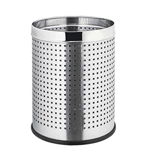 MOCHEN Stainless Steel Perforated Open Dustbin/Stainless Steel Garbage Bin/ - 7 Litre (8 * 12)- Chrome Finished 2