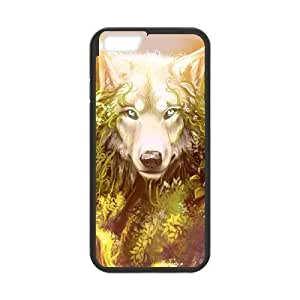 Diy Wolf Animal Phone Case for iphone 6 Plus (5.5 inch) Black Shell Phone JFLIFE(TM) [Pattern-1] Kimberly Kurzendoerfer