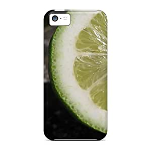 Laurregory Scratch-free Phone Case For Iphone 5c- Retail Packaging - Food Fruits And Berryes Citrus Green