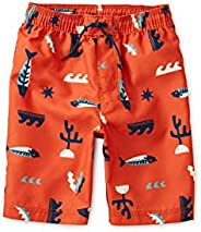 Tea Collection Kids Under The Sea Printed Swim Trunks