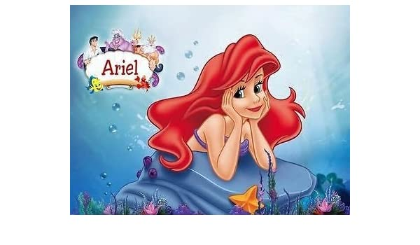 sdore Ariel de la Sirenita comestible 1/2 media hoja imagen ...