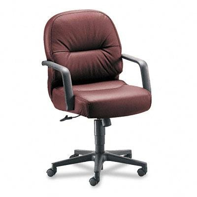 - HON Pillow-Soft 2090 Series Leather Managerial Mid-Back Swivel/Tilt Chair