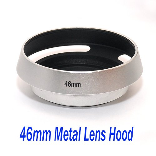 - EasyFoto 46mm Silver/ Chrome Curved Vented Metal Lens hood for Leica, Contax Zeiss, Voigtlander Lens