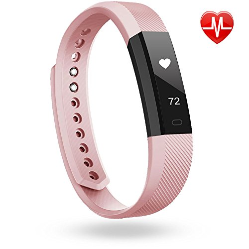 Bracelet Cardio, LINTELEK Tracker d'Activité Smart Bracelet Connecté, Montre sport Podomètre Calories Sommeil - Bluetooth 4.0 Montre Cardiofréquencemètre Etanche IP67 - Pour iPhone Android