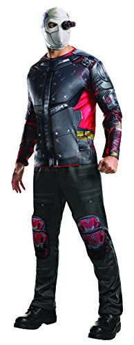 [Rubie's Men's Suicide Squad Deluxe Deadshot Costume, Multi, Standard] (The Joker Masquerade Costume)