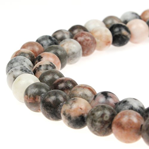 JARTC Natural Pink Zebra Jasper Gemstone Loose Beads 8mm Crystal Energy Stone Healing Power for Jewelry Making (4mm)