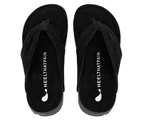 Heel That Pain Heel Seat Sandals For Plantar Fasciitis  Heel Spurs  And Heel Pain  Black  Mens 6  Womens 7