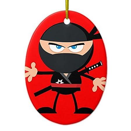 Árbol de Navidad decoraciones Cartoon Ninja Warrior rojo ...