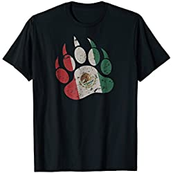 Mens Mexican Bear Paw - Gay Bear T-Shirt 2XL Black
