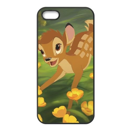 Bambi 013 coque iPhone 4 4s cellulaire cas coque de téléphone cas téléphone cellulaire noir couvercle EOKXLLNCD26078