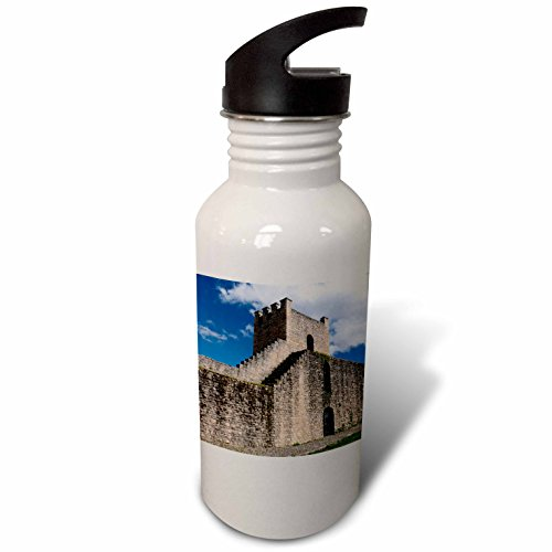 3dRose Danita Delimont - Spain - Spain, Andalusia, The historic roman stone wall at the edge of Ronda. - Flip Straw 21oz Water Bottle (wb_277900_2) by 3dRose