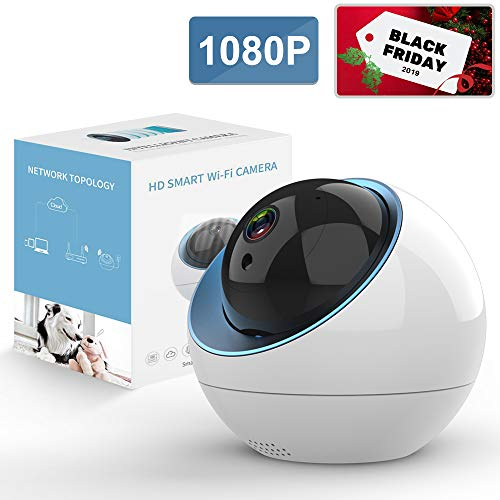 Wireless Security Camera 1080P, ANRAN Pan/Tilt/Zoom WiFi IP Home Surveillance Camera with Cloud Service, Panoramic View, Intelligent Motion Tracker, Two-Way Audio, Night Vision for Elder/Baby/Pet