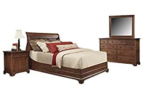 Cresent Fine Retreat Cherry Bedroom Set With California King Bed Nightstand