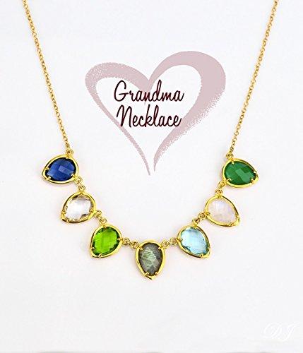 personalized grandma necklace birthstone custom birthstone necklace
