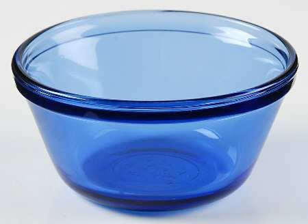 Anchor Hocking Cobalt Blue Glass Mixing Batter Bowl (1 Quart)