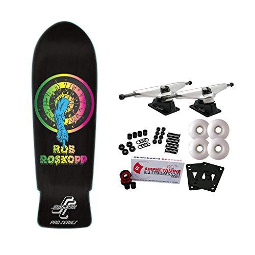 Santa Cruz Skateboard Complete Rob Roskopp Target 1 Black 10