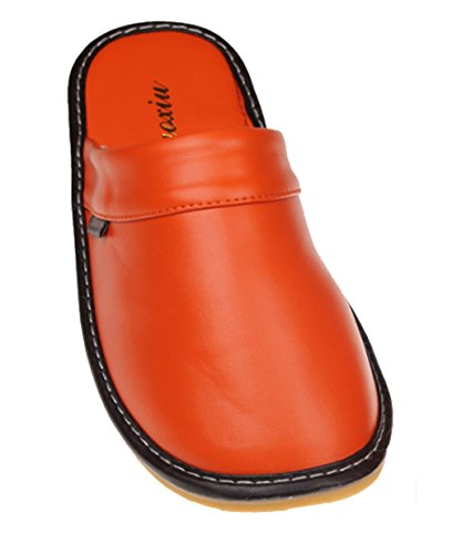 Pantofole Cattior Solide Pantofole In Pelle Comode Pantofole Arancione