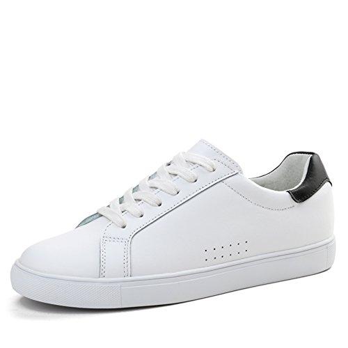 Primavera Zapatos De Cuero Blanco/Zapatos Femeninos De Corea Flat-bottom/Zapatos Del Patín Blanco Del/Zapatos De Los Deportes De Las Mujeres/Los Zapatos De Las Mujeres A