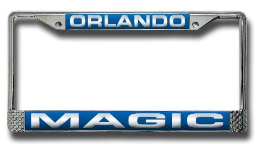 Rico Industries NBA Orlando Magic Laser Cut Inlaid Standard Chrome License Plate Frame