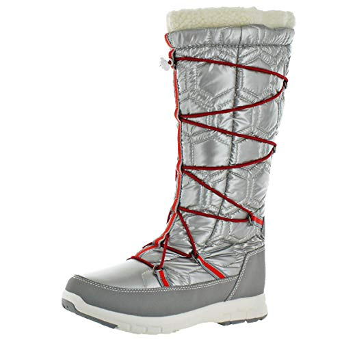 Khombu Womens Silver Waterproof Boots Icetrek Winter rrCAwqT