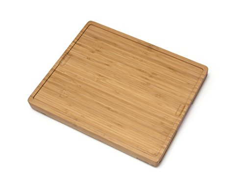 Lipper International 8869 Bamboo Wood Cutting Board with 6 Colored Poly Inlay Mats, 16'' x 13-1/8'' x 1-5/8'' by Lipper International (Image #1)
