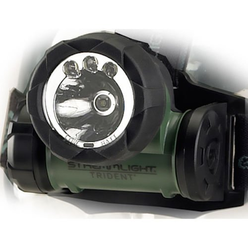 Bright Super Beam (Streamlight 61051 Trident Super-Bright LED Multi-Purpose Headlamp, Green - 80 Lumens)