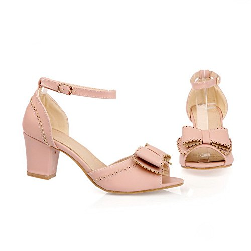 AdeeSu Womens Toggle Structured Dress Urethane Sandals SLC04052 Pink TuPvQ9ozn