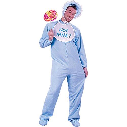 Adult Blue Baby Man Hallowen Costume (Size: Standard (Baby Hallowen)