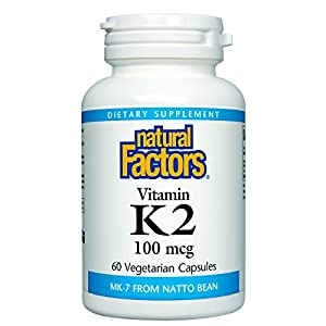 NATURAL FACTORS Vitamin K2 100Mcg, 60 Count