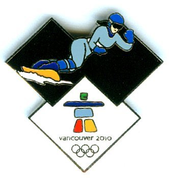 Vancouver 2010 Olympics - Snowboarder Pin -