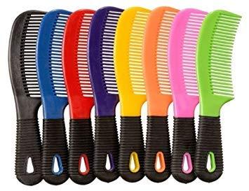 Tough-1 Rubber Grip Tail Mane Combs 12 pk