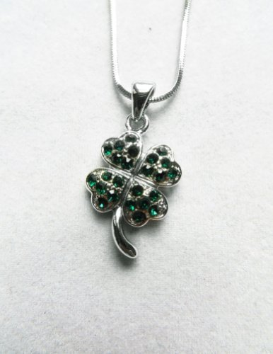 Themed Ireland Costumes (Accessory Silver - Plated Shamrock Pendant)